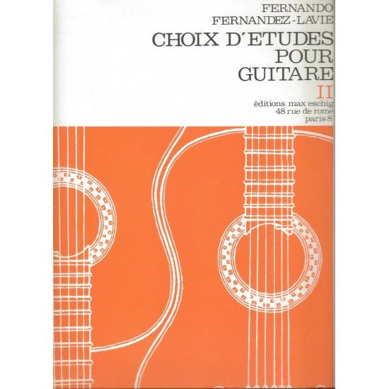 Fernando Fernández-Lavie : Choix d'Etudes Pour Guitare Vol 2