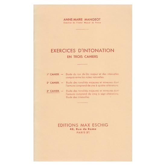 Anne-Marie Mangeot : Exercices d'Intonation 3ème Cahier