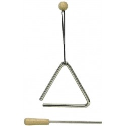 Gewa Triangle Acier 10CM Avec Batte