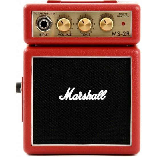 Marshall MS-2R Micro Ampli Rouge