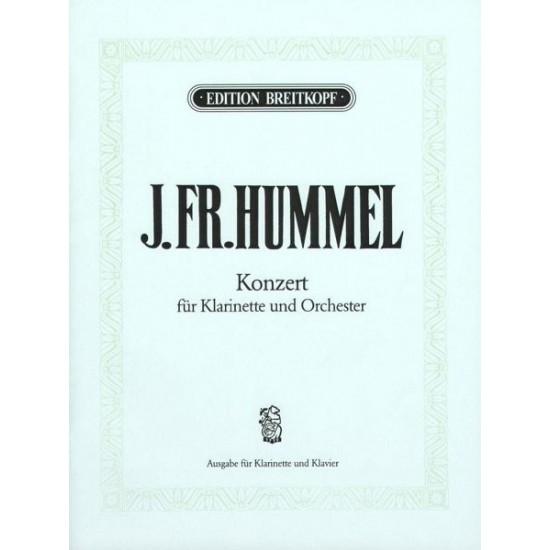 Joseph Friedrich Hummel : Concerto Pour Clarinette et Orchestre Nr. 1