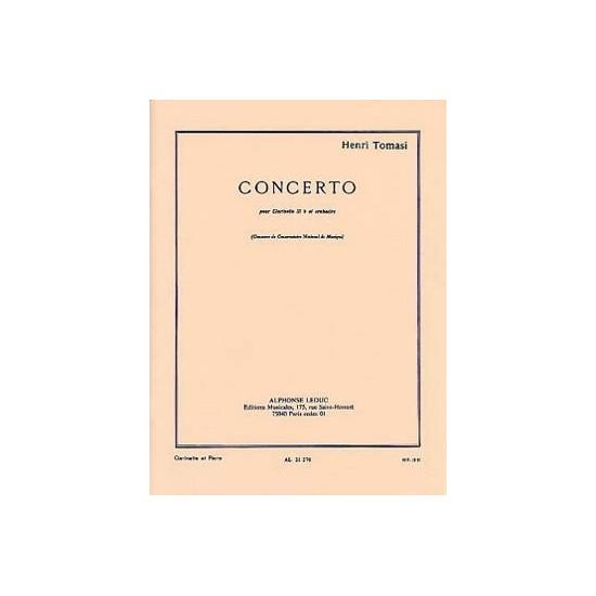 Henri Tomasi : Concerto Pour Clarinette Sib et Orchestre