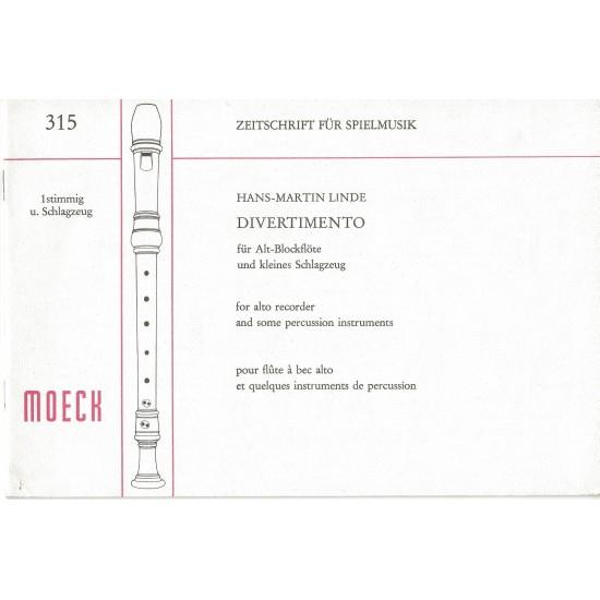 Hanse Martin Linde : Divertimento Pour Flûte à Bec Alto