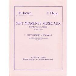Dupin François et Jorand Marcel : Sept Moments Musicaux, Cahier 1