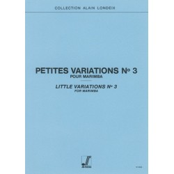 Alain Londeix : Petites Variations n°3 Pour Marimba