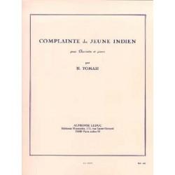 Henri Tomasi : Complainte Du Jeune Indien Pour Clarinette et Piano