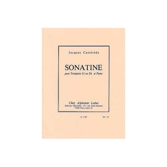 Jaques Castérède : Sonatine Pour Trompette Ut et Piano