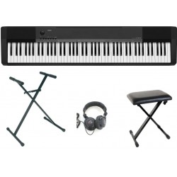 Casio Full Pack Piano Numérique CDP-130 + Casque + Siège + Pied