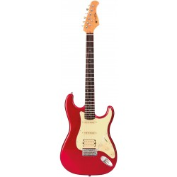 Prodipe Guitars ST83RA Candy Apple Red