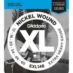 D'Addario EXL148 Extra Heavy 12-60