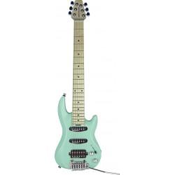 DV Mark Little Guitar F1 Carribean Green + Housse