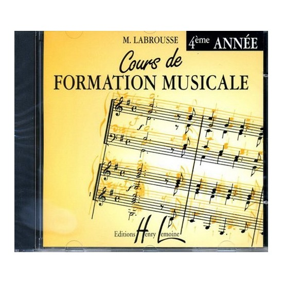 CD Labrousse Marguerite : Cours de Formation Musicale Vol.4
