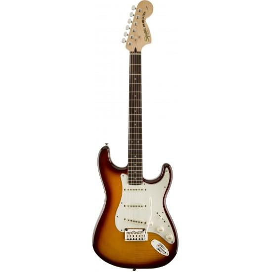 Squier Standard Stratocaster FMT Flame Maple Top Amber Sunburst