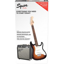 Squier Pack Guitare Strat Short Scale + Ampli