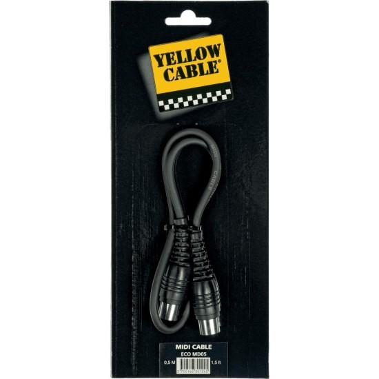Yellow Cable MD05 Cordon Midi 0.5M