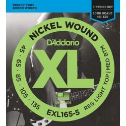 D'addario EXL165-5 Basse 5 Cordes 45-135