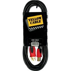 Yellow Cable N01-5 USB/USB Mâle 5M