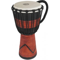 Latin Percussion World Beat Wood Art Red Carved