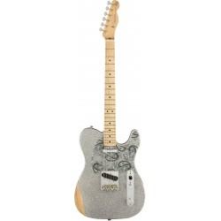 Fender Telecaster Brad Paisley Road Worn Silver Sparkle