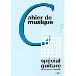 Cahier de Musique Spécial Guitare