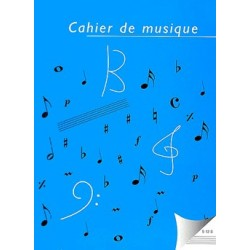 Cahier de Musique 12 portées Reliure Spirale