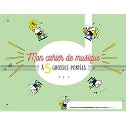 Cahier de Musique Pour Enfant 5 Grosses Portées
