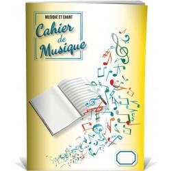 Cahier de Musique Portées et Pages d'Ecriture