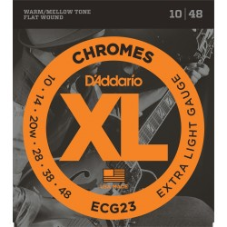 D'Addario ECG23 Chromes Filé Plat Jazz Extra Light 10-48