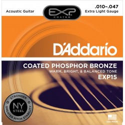 D'addario EXP15 Jeu Acoustique 010-047
