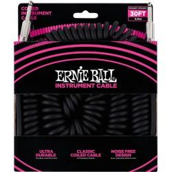 Ernie Ball Ultraflex Jack/Jack Spiralé 9M Noir