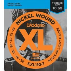 D'Addario EXL110-7 Jeux 7 Cordes 10-59