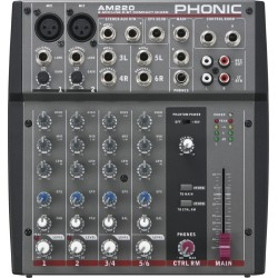 Phonic AM 220 Table De Mixage 6 Voies