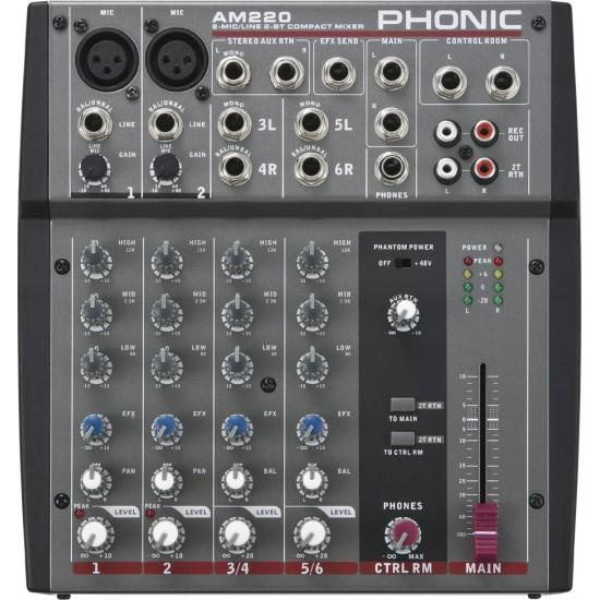 Phonic AM 220 Table De Mixage 6 Voies