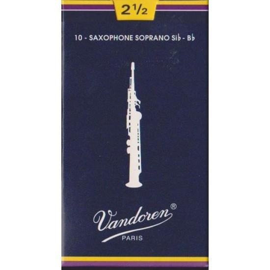 Vandoren SR2025 Anches Saxo Soprano 2.5