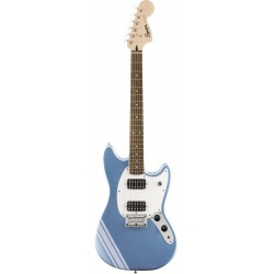Squier FSR Bullet Competition Mustang HH Lake Placid Blue with Ice Blue Metallic Stripes