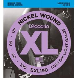 D'Addario EXL190 Basse Custom Light, 40-100