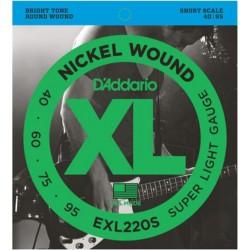 D'Addario EXL220S Short Scale 40-95