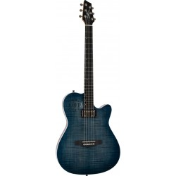 Godin A6 Ultra Denim Blue Flame avec housse
