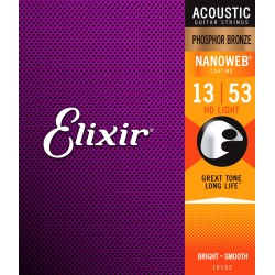 Elixir 16182 Nanoweb Ph. Bronze HD Light 13-53