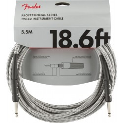 Professional Series Instrument Cable White Tweed