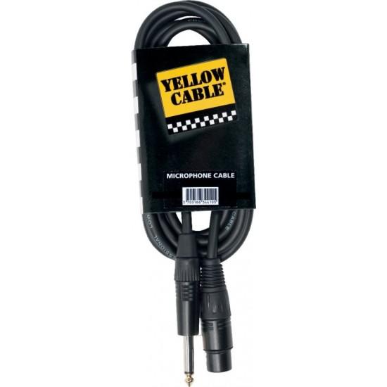 Yellow Cable M10J Jack/XLR Femelle 10M