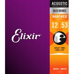 Elixir 11052 Nanoweb Bronze Light 12-53