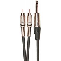 Yellow Cable K02ST-3 Double RCA/Jack Stéréo 3M
