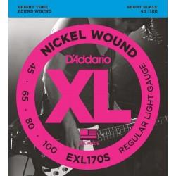 D'Addario EXL170S Basse Regular Light 45-100