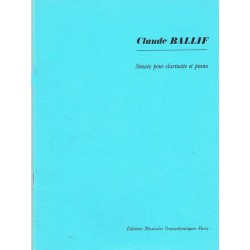 Claude Ballif : Sonate Pour Clarinette et Piano