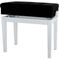 Gewa Banquette Piano Blanc Avec Compartiment