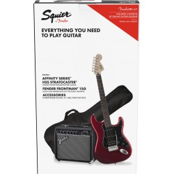 Squier Pack Affinity Series Stratocaster HSS Candy Apple Red