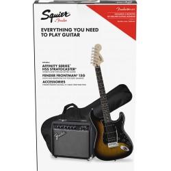 Squier Pack Affinity Series Stratocaster HSS Brown Sunburst