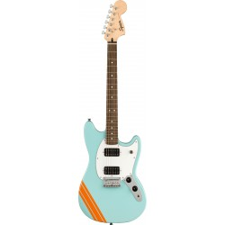 Squier FSR Bullet Competition Mustang HH Lake Placid Blue with Competition Orange Stripes