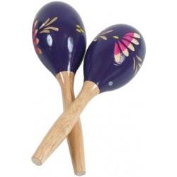 Fuzeau Maracas Violettes 20CM